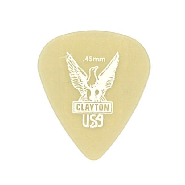 Clayton USA Ultem Gold 0.45mm スタンダード ギターピック×12枚