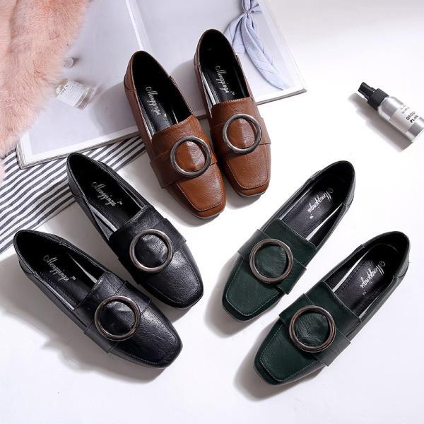 ローファー パンプス レディース スリッポン 革靴 ビジネスシューズ ブローグシューズ 大きいサイズあり 通勤通学 おじ靴 209-2001