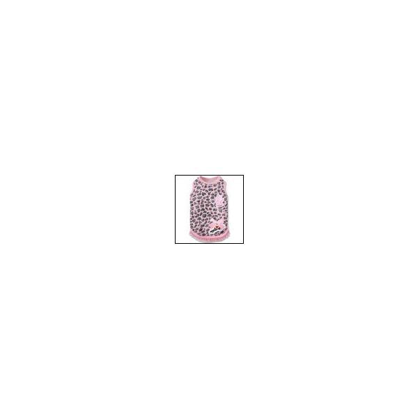 犬の服 秋 冬 新作 レオパードフリルタンクトップ ピンク Appleapple アップルアップル 洋服 ドッグウェア