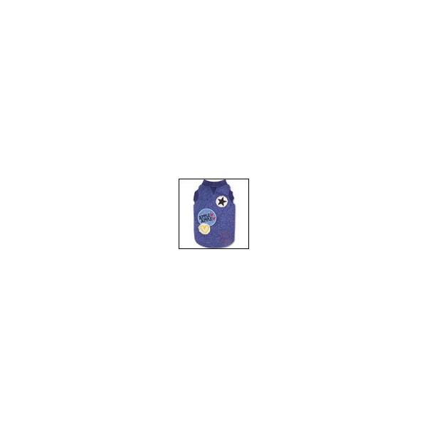 犬の服 秋 冬 新作 スタースマイルトレーナー ブルー Appleapple アップルアップル 洋服 ドッグウェア