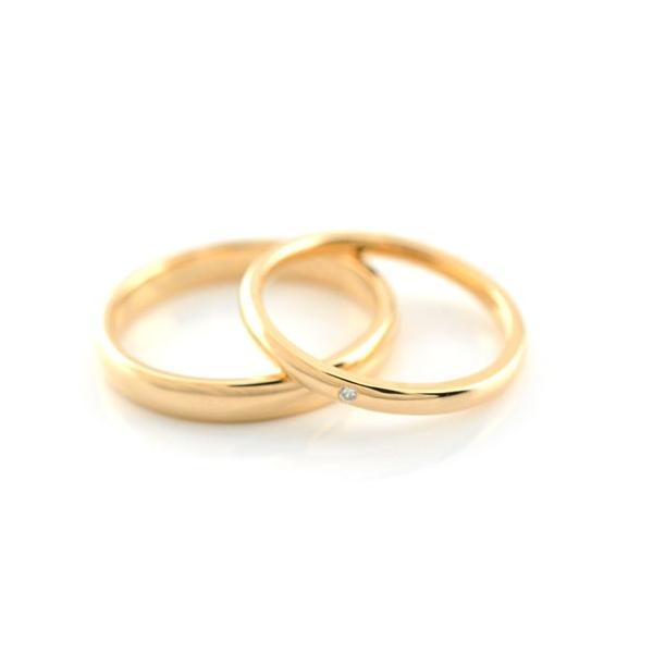結婚指輪 18k 甲丸 婚約指輪 エンゲージリング マリッジリングペアリング ダイヤモンド ピンクゴールドk18  レディース メンズ 指輪 母の日プレゼント