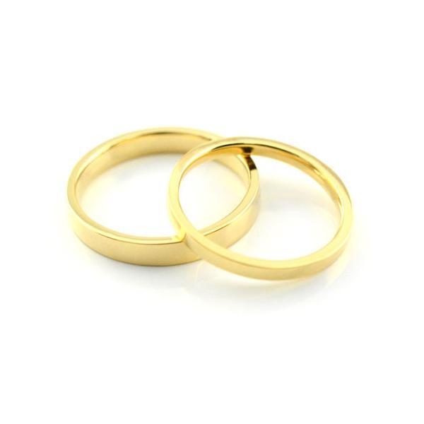 結婚指輪 18k 安い 婚約指輪  マリッジリング エンゲージリング ペアリング 平ウチ イエローゴールドk18 レディース メンズ 指輪 石なし 母の日プレゼント