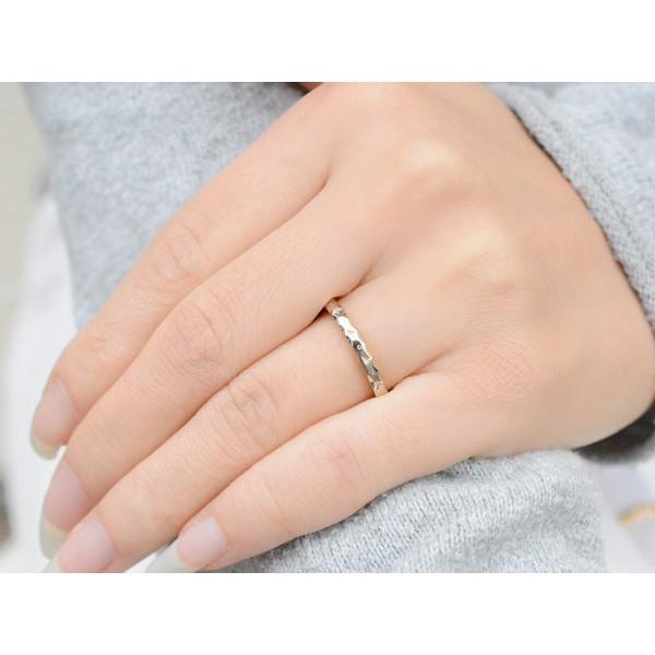 ペアリング 2本セット 18金 ハワイアンジュエリー レディース メンズ リング ホワイトゴールドk18 シンプル 地金リング 結婚指輪 母の日プレゼント