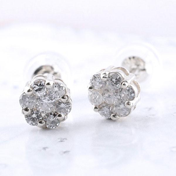 ダイヤモンド ピアス 18金 ホワイトゴールドk18 レディース ダイヤ キャッチ 18k 誕生日 ダイヤモンドピアス 0.30ct スタッドピアス 母の日プレゼント