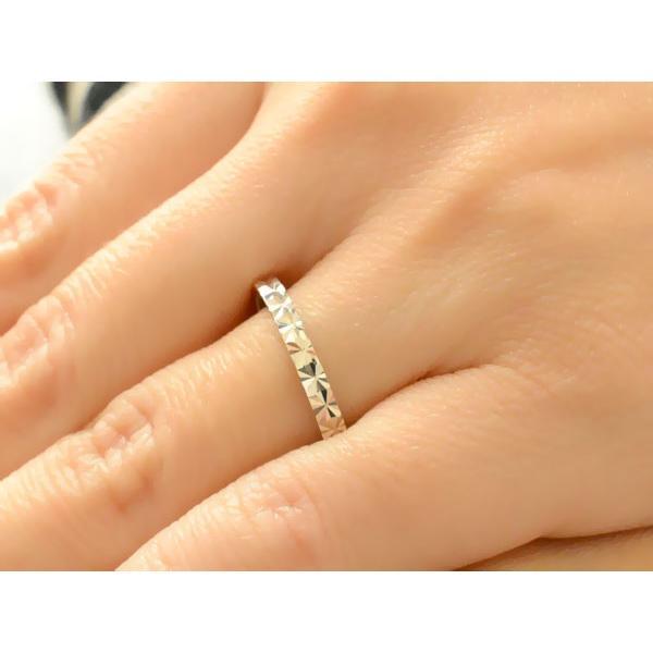 結婚指輪 ペアリング 2本 セット 18金 マリッジリング ブライダル ホワイトゴールドk18 平打ち カットリング 18k メンズ レディース 母の日プレゼント