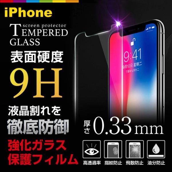 iPhone iPhone8 iPhone7 plus iPhoneXR iPhoneXS Max ガラスフィルム 硬度9H レビューを書いて追跡なしメール便送料無料可|cincshop