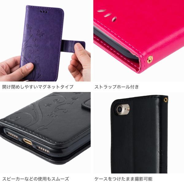 iPhone ケース 手帳型 蝶々柄 iPhone XR iPhone8 plus スマホケース iPhone7 ケース iPhone6s iPhone SE cincshop 03