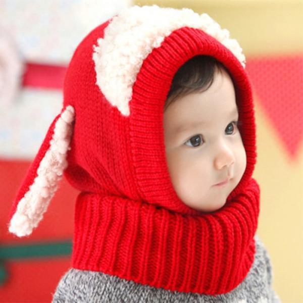 【送料無料】ネックウォーマー一体型 羊さん 耳付き ニット帽 cincshop 03