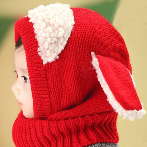 【送料無料】ネックウォーマー一体型 羊さん 耳付き ニット帽 cincshop 04