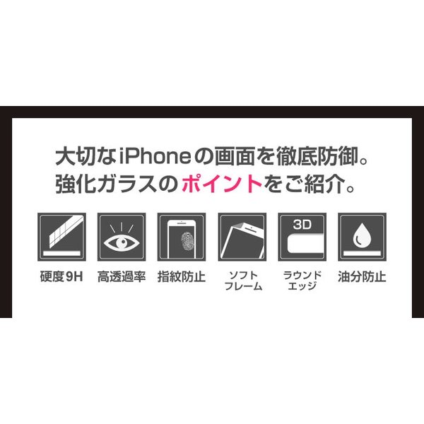 iPhone iPhone8 iPhone7 plus iPhoneXR iPhoneXS Max 3D 曲面 強化ガラス ガラスフィルム 全面保護 iPhone6/6s iPhone8/7|cincshop|06