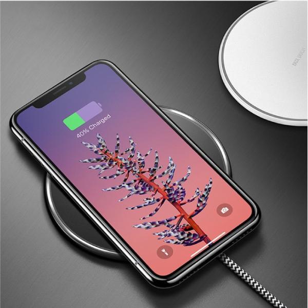 ワイヤレス充電器 Qi iPhone8 iPhoneX 対応  置くだけ充電 ワイヤレスチャージャー 充電器 スマホ レビューを書いて追跡なしメール便送料無料可 cincshop 12