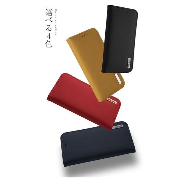 iPhoneX iPhone8 ケース 手帳型ケース 本革 牛革 レザー ベルトなし スタンド カードポケット レビューを書いて追跡なしメール便送料無料可|cincshop|12