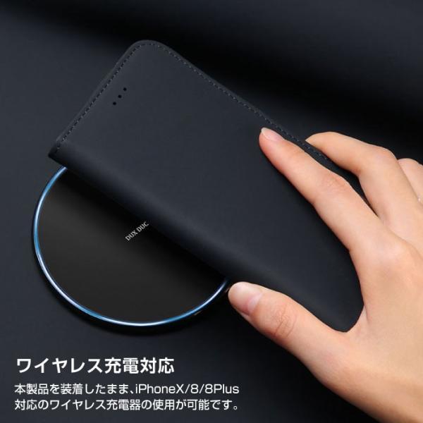 iPhoneX iPhone8 ケース 手帳型ケース 本革 牛革 レザー ベルトなし スタンド カードポケット レビューを書いて追跡なしメール便送料無料可|cincshop|06