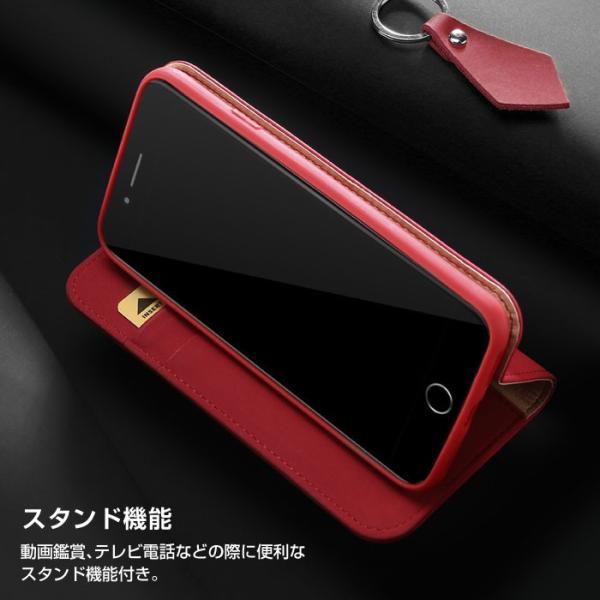 iPhoneX iPhone8 ケース 手帳型ケース 本革 牛革 レザー ベルトなし スタンド カードポケット レビューを書いて追跡なしメール便送料無料可|cincshop|07