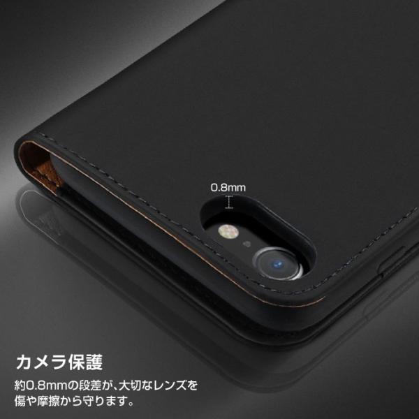 iPhoneX iPhone8 ケース 手帳型ケース 本革 牛革 レザー ベルトなし スタンド カードポケット レビューを書いて追跡なしメール便送料無料可|cincshop|08