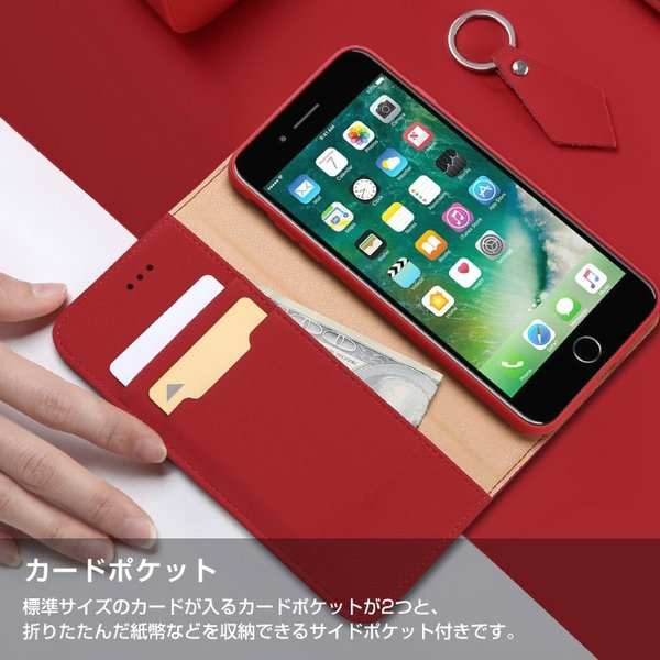 iPhoneX iPhone8 ケース 手帳型ケース 本革 牛革 レザー ベルトなし スタンド カードポケット レビューを書いて追跡なしメール便送料無料可|cincshop|09