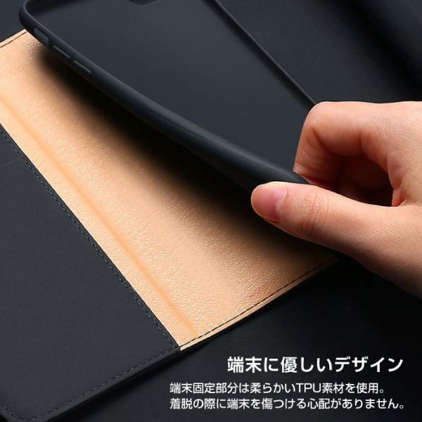 iPhoneX iPhone8 ケース 手帳型ケース 本革 牛革 レザー ベルトなし スタンド カードポケット レビューを書いて追跡なしメール便送料無料可|cincshop|10