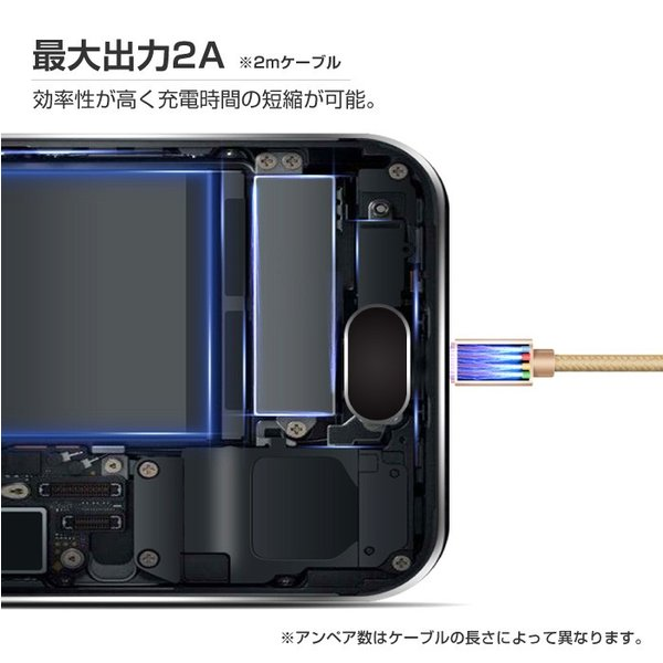 【2m】MicroUSB アンドロイド 充電ケーブル MicroUSB 充電器 高速充電 データ転送 Xperia / Nexus / Galaxy / AQUOS コード ナイロン ロング cincshop 04