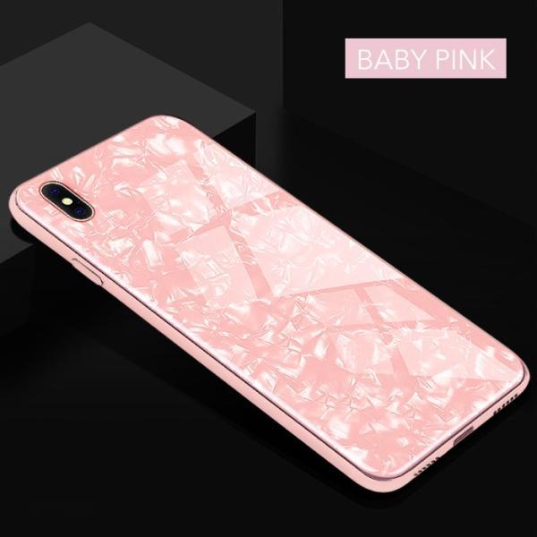 iPhone ケース iPhone8 iPhone7 plus iPhoneXR iPhoneXS Max 背面ガラス クリスタル シェル 風 レビューを書いて追跡なしメール便送料無料可|cincshop|16