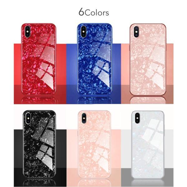 iPhone ケース iPhone8 iPhone7 plus iPhoneXR iPhoneXS Max 背面ガラス クリスタル シェル 風 レビューを書いて追跡なしメール便送料無料可|cincshop|10