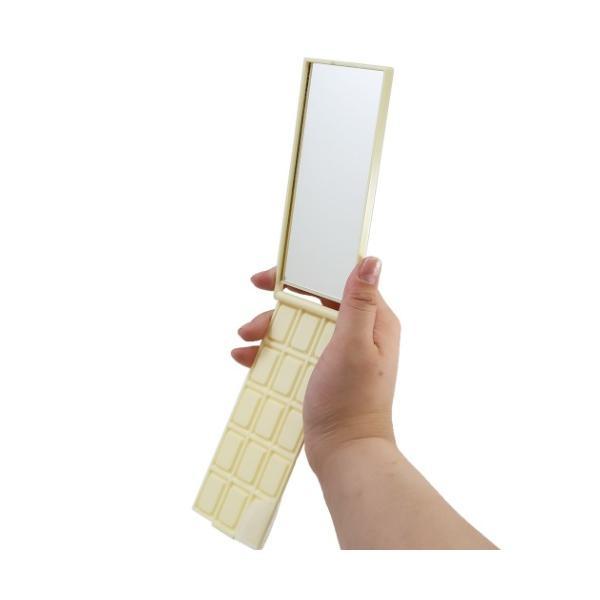 板チョコ型 スタンドミラー 手鏡 明治ホワイトチョコレート おやつマーケット グッズ キャラクター|cinemacollection-yj|04