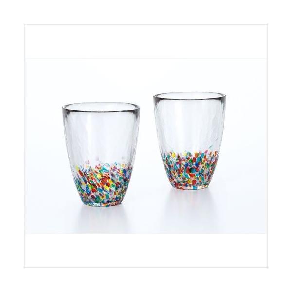 津軽びいどろガラスコップねぶたタンブラーペアアデリア300mlギフトプレゼント石塚硝子食器通販