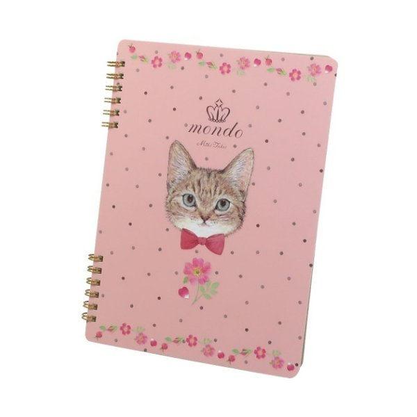 たけいみき A5 Wリングノート リングノート TABBY CAT ぶち猫 かわいい 女の子 女性向け グッズ