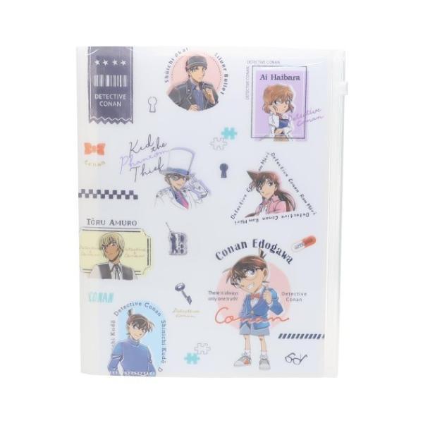 名探偵コナン ファイル A4 クリアファイル ジップファスナー付 6ポケット チラシ 少年サンデー アニメキャラクター グッズ