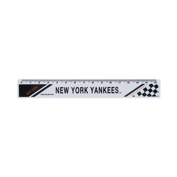 メジャーリーグベースボール スリム 15cm 定規 ニューヨークヤンキース グッズ ものさし キャラクター MLB クラックス 新学期 準備