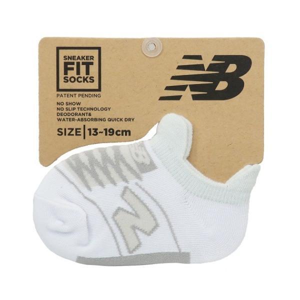 ニューバランス グッズ 子供用 靴下 キッズ スニーカーソックス ホワイト new balance スポーツブランド