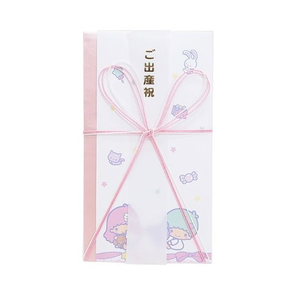 リトルツインスターズ キキ&ララ グッズ ご祝儀袋 サンリオ キャラクター 熨斗袋 ご出産祝い フロンティア 中封筒 短冊付き かわいい