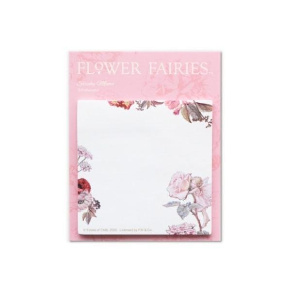 スクエア ふせん 付箋 フラワーフェアリーズ FLOWER FAIRIES ローズ 7×7cm 事務用品