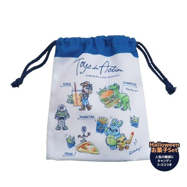 ハロウィン お菓子 セット トイストーリー ハロウィーン Halloween 巾着袋 マチ付ききんちゃくポーチ ディズニー キャンディつき