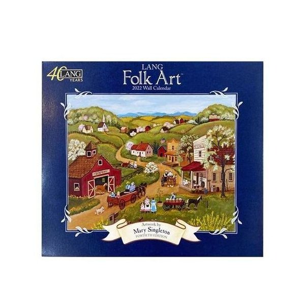 LANG 2022年 カレンダー Lang Folk Art Mary Singleton 壁掛け カントリー 風景 インテリア