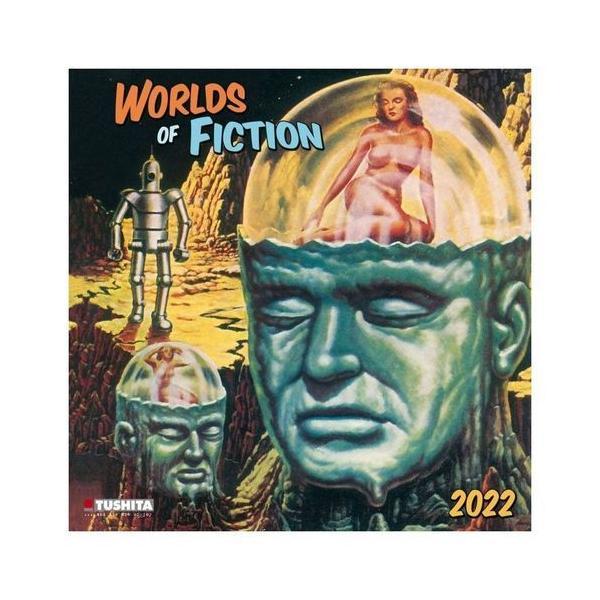2022年 カレンダー 輸入 壁掛けWORLDS OF FICTION フィクションの世界 TUSHITA アート シネマ