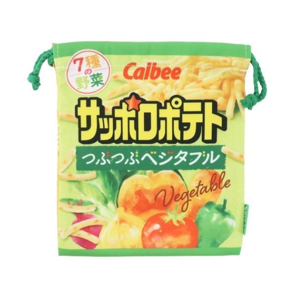 きんちゃくポーチ 巾着袋 カルビー サッポロポテト おやつマーケット 通販 グッズ