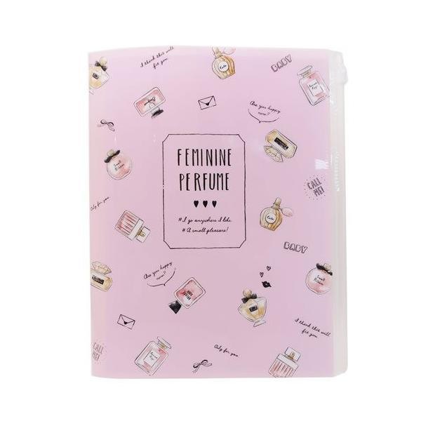 ファイル ジップファスナー付 6ポケット A4 クリアファイル カミオジャパン FEMININE PERFUME グッズ 新学期準備 雑貨 かわいい