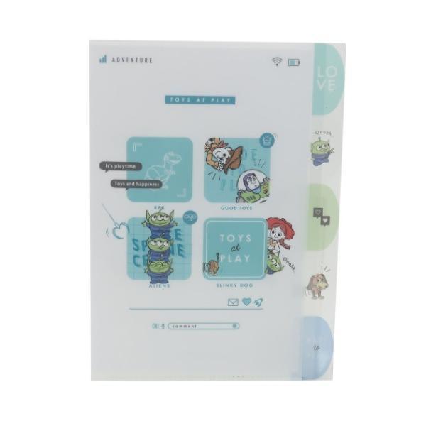 トイストーリー ディズニー キャラクター A4 クリアファイル ダイカット 5インデックス ポケットファイル シンプルカワイ