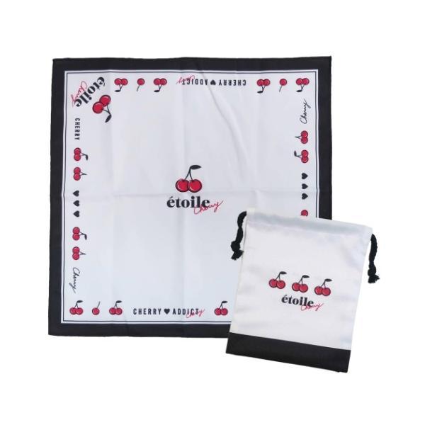 ランチクロス巾着袋給食袋ナフキンセット2点セットチェリー子供女の子幼稚園小学校