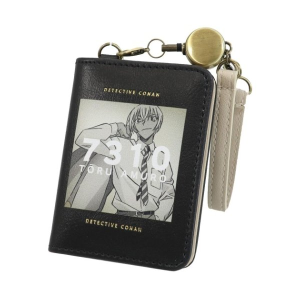 名探偵コナン 少年サンデー アニメキャラクター 定期入れ リール付き オープン パスケース 雑誌風 安室透 マリモクラフト