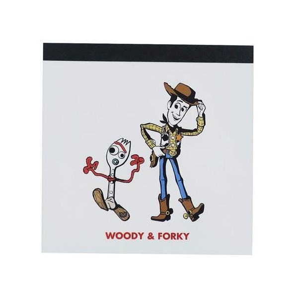 メモ帳 スクエア メモ ウッディ&フォーキー トイストーリー4 ディズニー マリモクラフト 10×10cm かわいい 文具