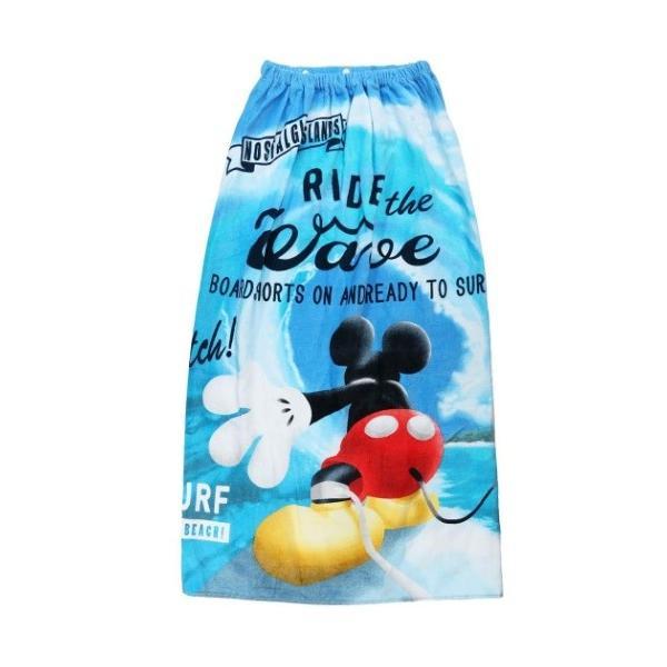 ミッキーマウス ディズニー サマーレジャー用品 ラップタオル 100cm丈 巻き 巻きタオル グレイトオーシャン 丸眞