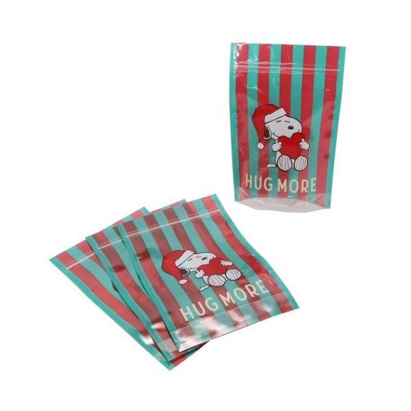 ギフト袋 スヌーピー クリスマス ジップバッグ 4枚セット HUG MORE ピーナッツ ラッピング用品