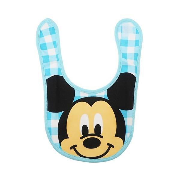 ミッキーマウス キャラ スタイ キャラクター ベビー ビブ アップチェック ディズニー スモールプラネット 赤ちゃん用品 よだれかけ