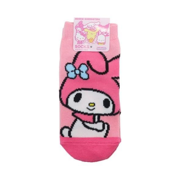 マイメロディ キャラクター 子供用 靴下 キッズ ソックス おすわり アップ サンリオ