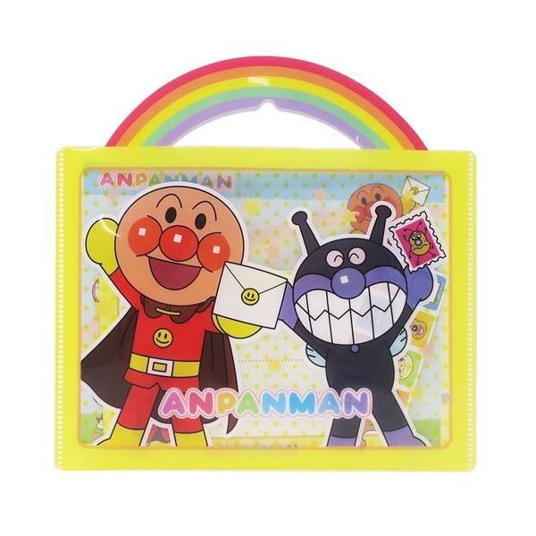 アンパンマン レターセット おてがみセット サンスター文具 グッズ 便箋 封筒 シール クリアバッグ 日本製