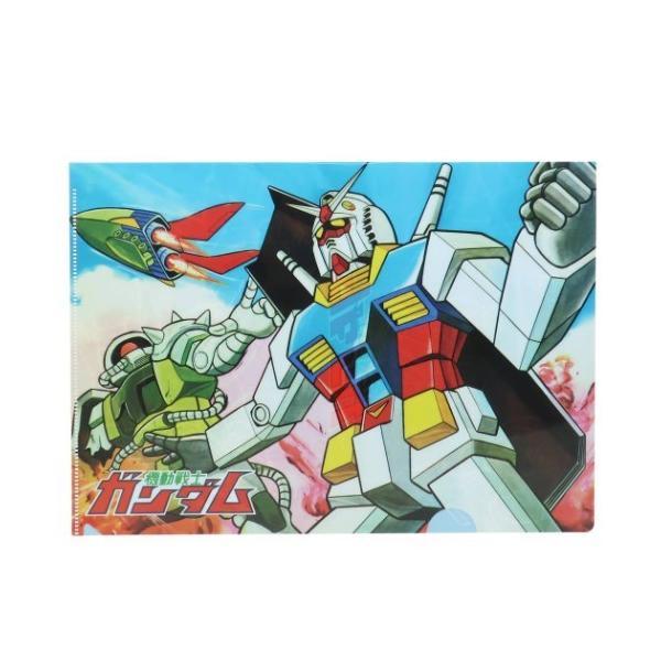 機動戦士ガンダム アニメキャラクター A4 シングル クリアファイル クリアフォルダー レトロガンダムA グッズ