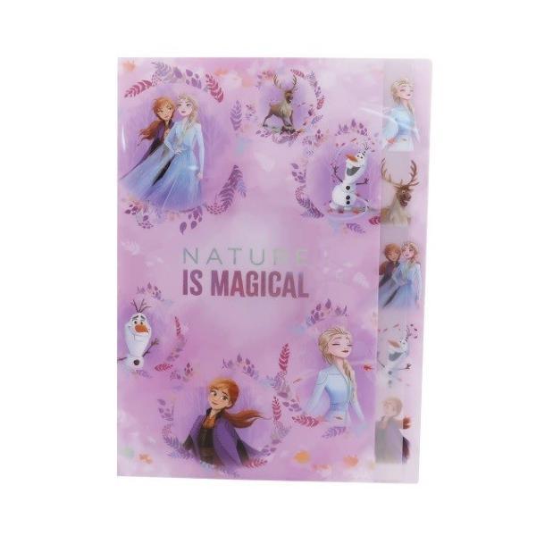 アナと雪の女王2 ダイカット 5インデックス A4 クリアファイル キャラクター グッズ ポケット ファイル 2nd 2D柄 ディズニー
