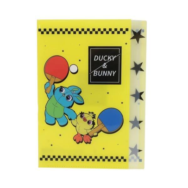 トイストーリー ダイカット 5ポケット A4 クリアファイル キャラクター グッズ ポケットファイル Toys in Sports ダッキー&バニー ディズニー