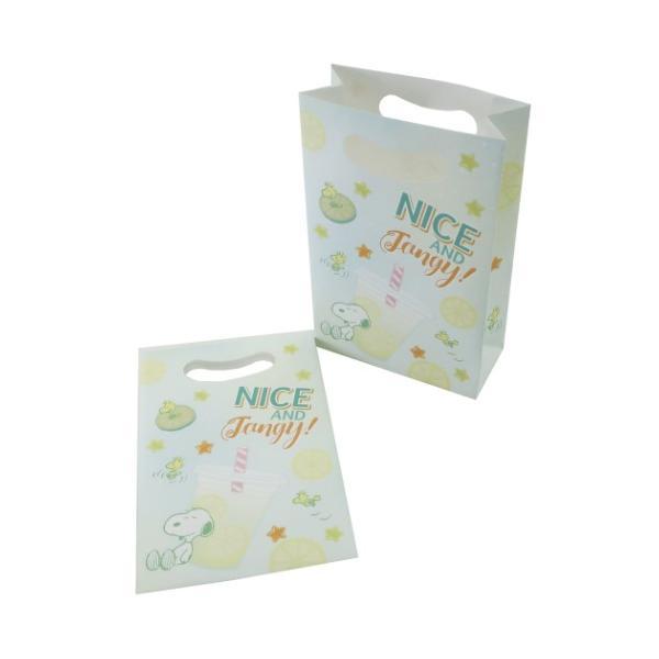 ラッピング用品 スヌーピー マチ付き ミニペーパーバッグ 4枚セット Fancy Style レモネード ピーナッツ サンスター文具 かわいい